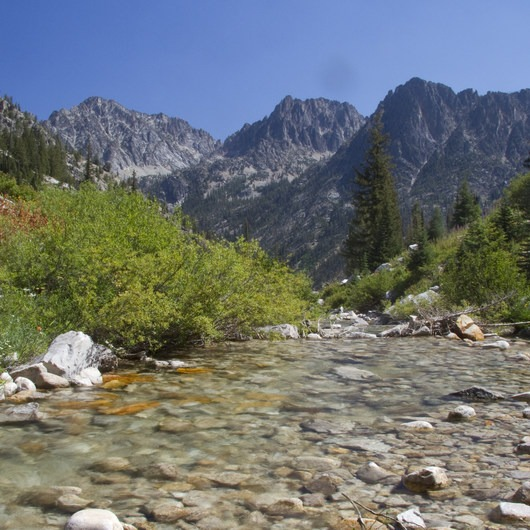 Middle Fork of the Boise River, Rock Creek Canyon and Timpa Lake