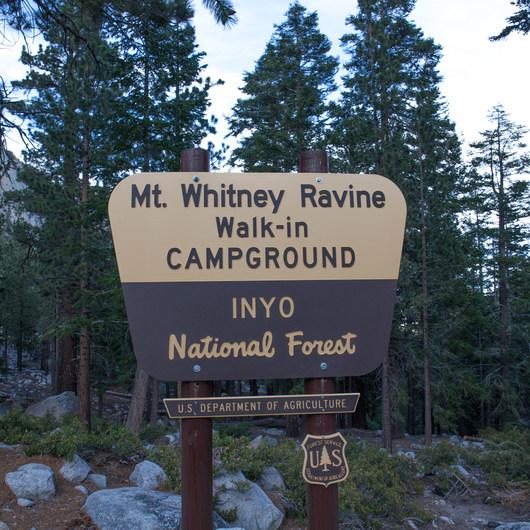 Whitney Ravine Walk-in Campground