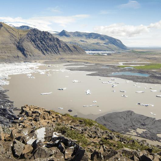 Svartifoss and Skaftafellsjökull