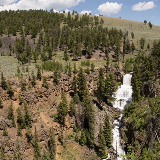 Undine Falls Via Lava Creek Trailhead