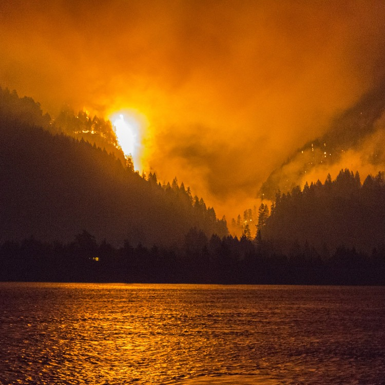 Devastating Eagle Creek Fire in the Columbia River Gorge