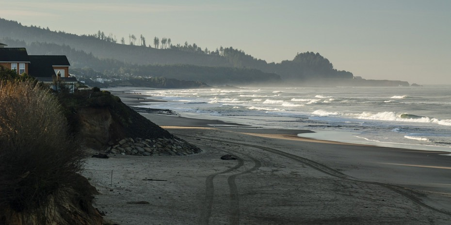 Early Morning Light At Gleneden Beach Oregon