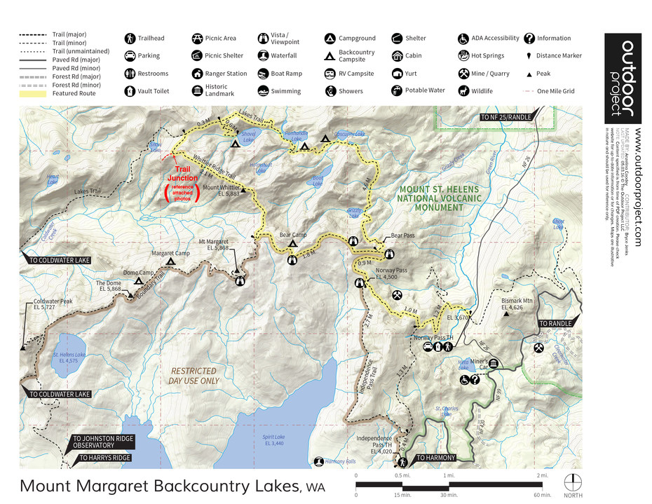 Mount Margaret Backcountry Lakes Outdoor Project - Norway lakes map