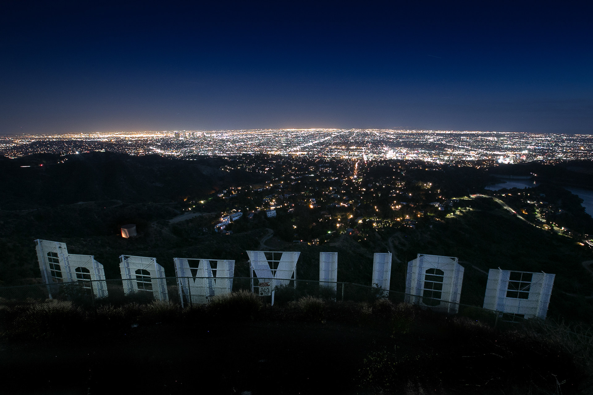 hollywood sign via mount lee drive outdoor project