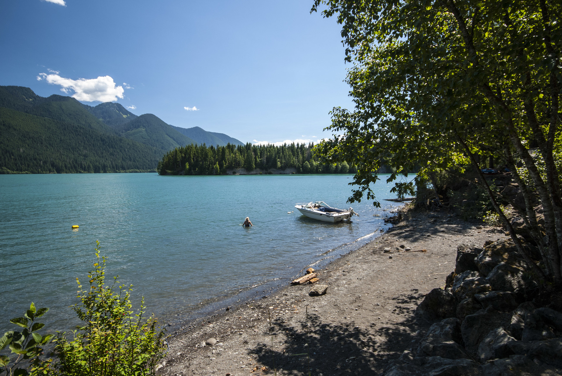 Baker Lake, Lower Sandy Beach + Campsites | Outdoor Project