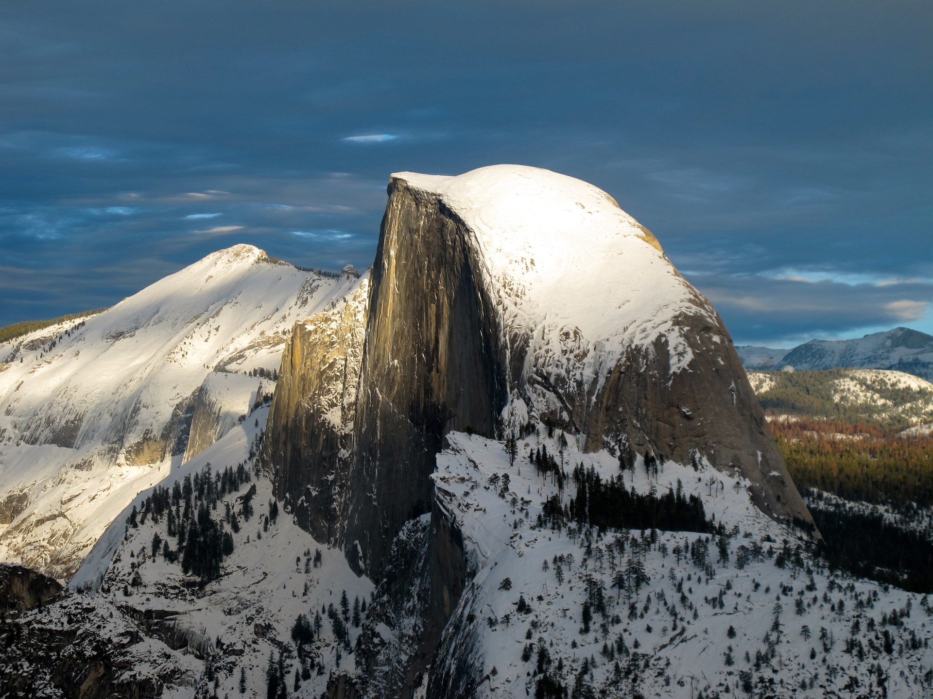 winter in yosemite national park outdoor project