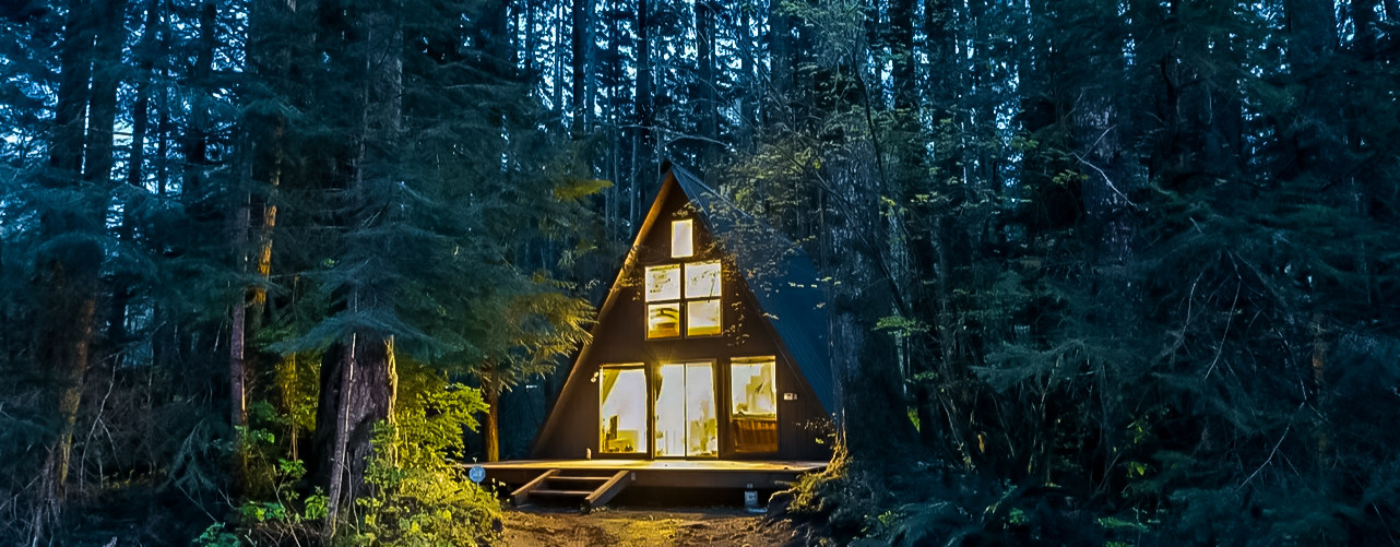 rustic cabins in washington via airbnb outdoor project
