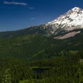 Burnt Lake and Mount Hood (11,250') from Zigzag Mountain. - A Photographer's Perspective: Best Views of Mount Hood
