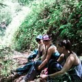 Shady lunch breaks with the Mavens. Photo by Jessica Monroy.- Adventures with Trail Mavens