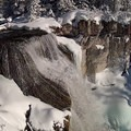 Paulina Falls from the trail's northern viewpoint.- Paulina Creek + Falls Loop Trail
