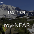 Mount Rainier.- Wednesday's Word - Rainier