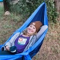 Kayla loving her first hammock experience. Photo by Jessica Monroy.- Adventures with Trail Mavens