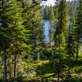 A campsite along the banks of Summit Lake in the Elkhorn Mountains.- Getting Lost in the Strawberries and Blues