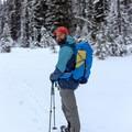 Contributor Daniel Sherman dons the Voltai for a winter snowshoe trip.- Gear Review: Kathmandu Voltai 40L Pack