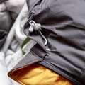 The hood's simple toggled drawstring with soft chin guard.- Gear Review: Kathmandu Epiq Men's Hooded Down Jacket