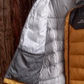 The inside netted pocket is ideal for storing the included stuff sack.- Gear Review: Kathmandu Epiq Men's Hooded Down Jacket