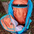 Spacious main pocket with internal hydration bladder sleeve.- Gear Review: Kathmandu Voltai 40L Pack