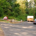 One of the two sites adjacent the park's marina- Beacon Rock State Park Campground