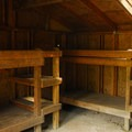 Adirondack (three-sided) sleeping shelter.  Both sleep 8 each.- Beacon Rock State Park Group Campground