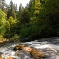 Lacamas Creek and Lower Falls.- Lacamas Creek Loop Trail
