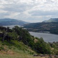 View looking east over the Columbia River Gorge.- Coyote Wall Hiking Trail