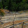 View looking down the continuous sequence of switchbacks.- Beacon Rock Hike