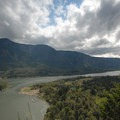 View mid-way looking southwest.- Beacon Rock Hike