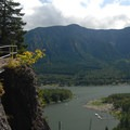 View looking south over the Columbia River.- Beacon Rock Hike