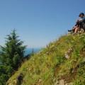 Neahkahnie Mountain's summit (1,680').- Neahkahnie Mountain Hike