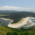 Viewing looking south over the Salmon River and the Westwind Stewardship Group's 500-acre nature preserve.- Cascade Head