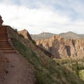 Switchback trail up to Misery Ridge.- Smith Rock, Misery Ridge Hiking Trail