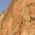Climbers on the Mesa Verde Wall.- Smith Rock, River Trail Hike