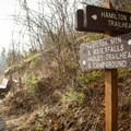 The trail junction to Hadley Trailhead and Campground.- Hamilton Mountain Hike