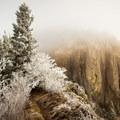Hamilton Mountain in the mist.- Hamilton Mountain Hike