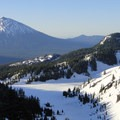 View to the south over Mount Bachelor (9,068').- South Sister Hike