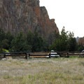 Walk-in campsite area.- Smith Rock State Park, Bivouac Campground