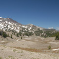 View north of the South Sister (10,358').- Moraine Lake in the Three Sisters Wilderness