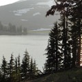 Looking across Green Lakes at South Sister (10,358').- Green Lakes