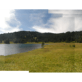 Panoramic view looking west across the lake's northern meadow.- Todd Lake Hike