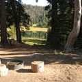 "Backcountry camping site ""2"", one of three backcountry sites.- Todd Lake Hike"