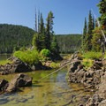 Sparks Lake.- Sparks Lake, Ray Atkeson Memorial Trail Hike