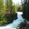 Deschutes River, Benham Falls.- Deschutes River Trail, Upper Reach Hiking Trail