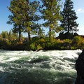 Deschutes River, Lava Island Falls.- Deschutes River Trail, Upper Reach Hiking Trail