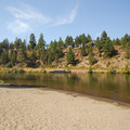 A swimming hole and beach just northeast of the Reed Market Road bridge in Farewell Bend Park.- Deschutes River Trail, South Canyon Reach