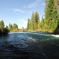 Rapids just downriver from Benham Falls.- Benham Falls