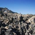 View of Newberry Volcano's high point, Paulina Peak (7,989').- Big Obsidian Flow Interpretive Trail