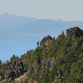 View west toward Diamond Peak (8,743').- Paulina Peak Hiking Trail