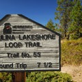 Paulina Lake Loop Trailhead at Little Crater Campground.- Paulina Lake Loop Trail + Hot Springs