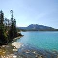 View looking south at Paulina Peak (7,989').- Paulina Lake Loop Trail + Hot Springs