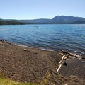 Bring a shovel for the lake's North Beach Hot Springs.- Paulina Lake Loop Trail + Hot Springs